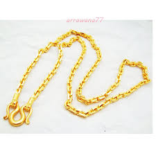 new arrival fashion 24k gp gold plated mens women jewelry men s classic chain 22k 23k 24k thai baht gold gp