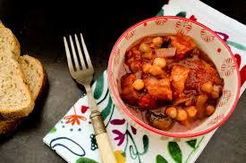 slow cooker veggie sausage mushroom u0026 chickpea stew vegan