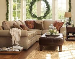 Neutral Couch Family Room Pottery Barn Traditional Family - Family room sofa