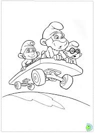 smurfs coloring pages dinokids org
