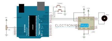 dc motor control with arduino circuit diagram