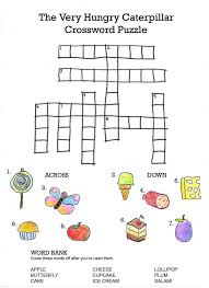 cross word kids easy crossword puzzles for caterpillar portrayal