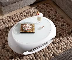 roller couchtisch weiss hochglanz tischplatte rund weiß hochglanz
