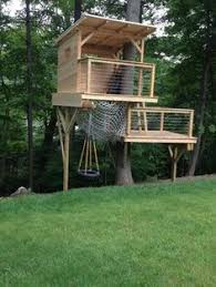 Backyard Treehouse Ideas Diy Rope Railing Safe But Simple Durable Design Treehouse