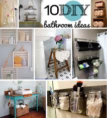 Bathroom Ideas Diy 10 Diy Bathroom Ideas Pertaining To The As Well As