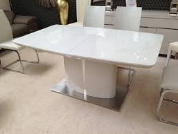 High Gloss Extending Dining Table Extending Dining Table Fascinating Kitchen Tables