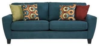 Queen Size Sleeper Sofas Ashley Sagen Fabric Queen Size Sleeper Sofa Teal Sleeper Sofas