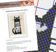 animal cross stitch pattern printable pdf pattern cat embroidery
