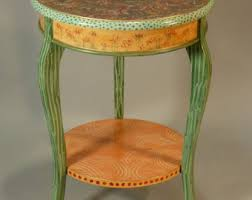 Green Accent Table Accent Table Etsy