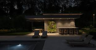 up modern pool house cabana and shade structure