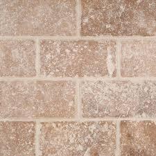 subway tile tuscany walnut subway tumbled tile 3x6