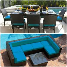 Turquoise Patio Furniture by 16 Piece Modern Outdoor Patio Furniture Sofa Sectional Dining