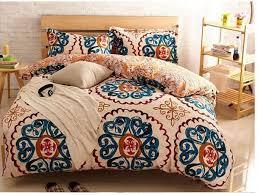 Vintage Duvet Cover Yellow Blue Vintage Bedding Comforter Set King Queen Size Duvet