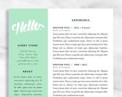 resume template mac etsy