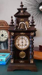 Vintage Antique Home Decor Japanese Bell Ringer Clock Antique Vintage Home Decor