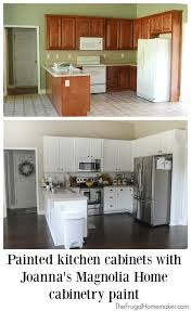 how to paint stained kitchen cabinets painted kitchen cabinets with magnolia home paint stained