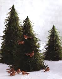 3 table top mantel u0026 room decor feather christmas trees all