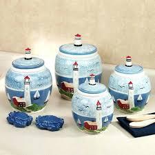 kitchen ceramic canister sets kitchen ceramic canisters sets lighthouse kitchen canister set blue