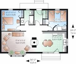 cottage style house plan 2 beds 1 baths 874 sq ft plan 23 754