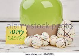 styrofoam easter eggs styrofoam easter eggs greeting card stock photo royalty free