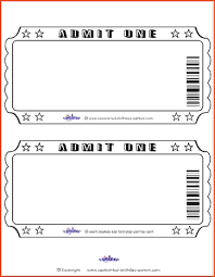 ticket template free download exquisite blank admit one ticket template golden free download