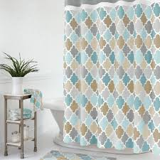 Multi Color Shower Curtains Bathroom Fixtures Striped Plants Blue And Tan Shower Curtain