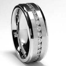 Men Wedding Ring 7mm men u0027s eternity titanium ring wedding band with cz size 10 5