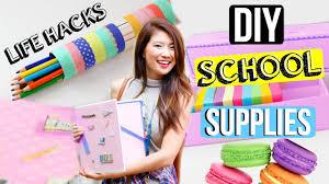 diy hacks youtube diy life hacks for back to school supplies organization youtube