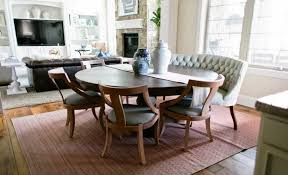dining table in front of fireplace curved settee for round dining table room cozy in idea 1