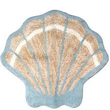 Seashell Bathroom Rugs Better Homes And Gardens Coastal Tufted Bath Rug Walmart