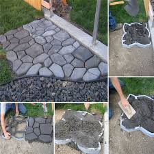 Stepping Stone Molds Uk by Diy Patio Driveway Concrete Stepping Stone Path Walk Maker Paving