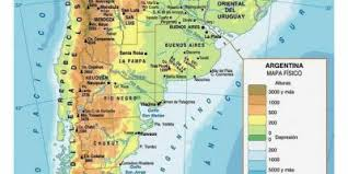 physical map of argentina argentina map maps argentina south america americas