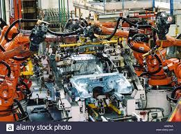 bmw car plant industry robotics spot welding car production at bmw in