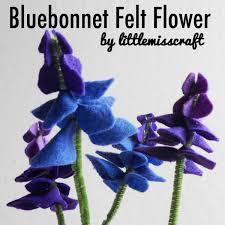 Bluebonnet Flowers - crafts bluebonnet lupine felt flower