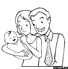 newborn parents coloring