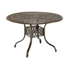 48 In Round Dining Table Shop Home Styles Floral Blossom 48 In W X 48 In L Round Aluminum
