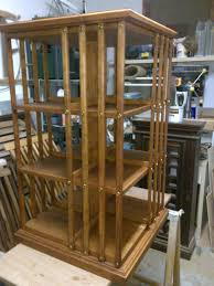 revolving bookcase finewoodworking
