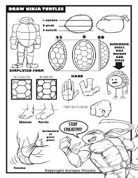 draw ninja turtle tips tutorial sheet sketchmonster1