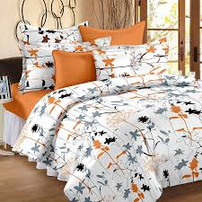 buy story home 186 tc cotton double bedsheet with 2 pillow covers