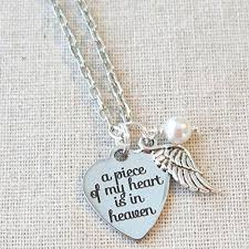 handmade angel necklace images Memorial angel wing necklace remembrance sympathy loss necklace