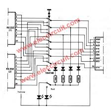 dual rs232 port selector circuit u2013 electronic projects circuits