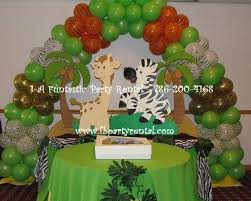jungle theme baby shower centerpieces safari balloon decorations