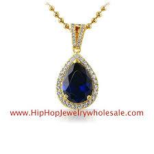 gold blue stone necklace images Pear blue stone gold cz pendant mini cz pendants mbp919bug gif