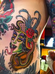 trippy color chest color tattoos best tats