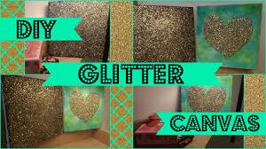diy glitter canvas youtube