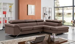 Modern Sofa Sets Living Room J M Italian Leather Sectional Sofa With Ottoman In