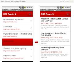 rss reader android android rss reader application using sqlite part 2