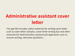 sample cover letter for administrative job administrative