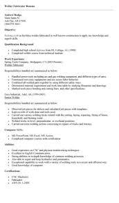 Cnc Machinist Resume Template Welder Resume Sample Drafting Resume Examples Free Drafter Resume