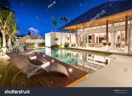 design villa luxury interior design pool villa livingroom stock photo 660324757